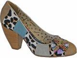 Sapato Feminino Tanara 9322 Bege/cinza