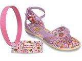 Sandália Fem Infantil Grendene 20704 Bege/lilas