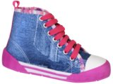 Tennis Bota Fem Infantil Novopé 210303 Jeans