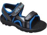 Sandália Masc Infantil New Feet 8901 Preto/azul