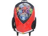 Mochila Masc Infantil Sestini 60761 Hot Wheels Preto/vermelho