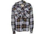 Camisa Masculina Index 07.01.0184 Xadrez Preto