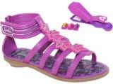 Sandália Fem Infantil Grendene Barbie 20837 Marrom/lilas