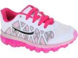 Tênis Fem Infantil Novopé 211205 Bco/pink/pto