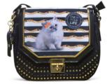 Bolsa Feminina Rafitthy 31.71130 Fashion Cat Preto/ouro