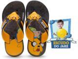 Chinelo Masculino Infantil Grendene 21354 Adventure Time Preto/amarelo