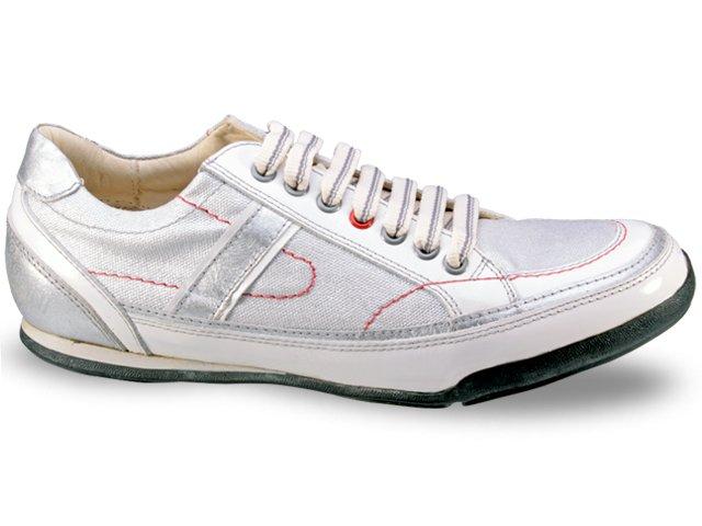 Sapatênis Masculino Ferracini 8648 Branco/prata