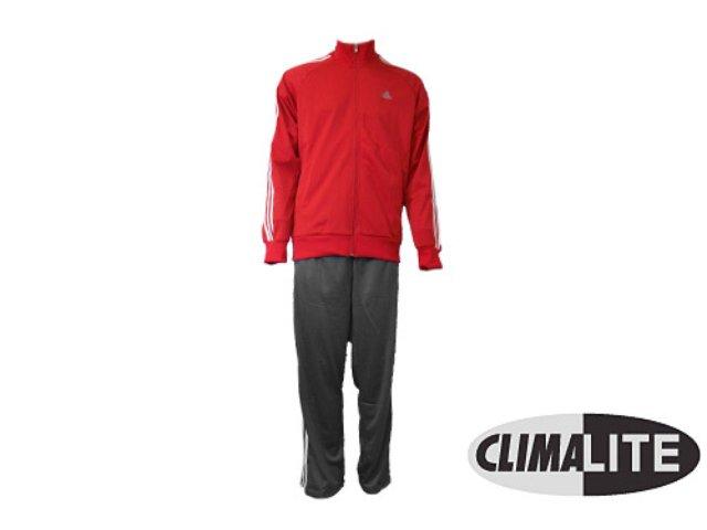 Abrigo Masculino Adidas E14872 Cinza/vermelho