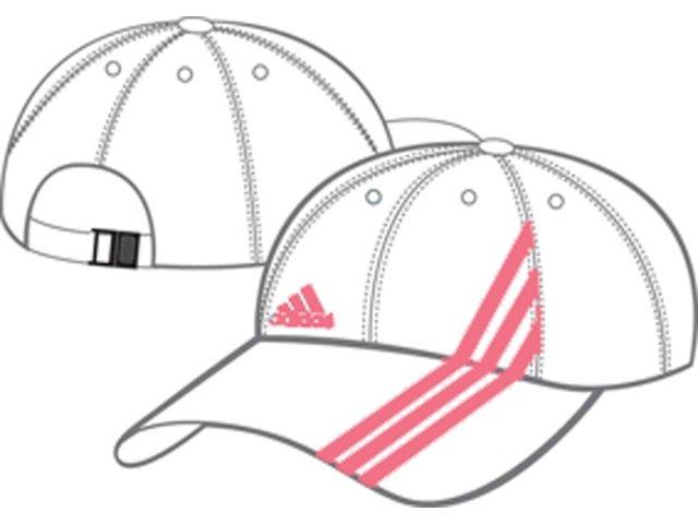 Boné Feminino Adidas 515613 Branco/rosa