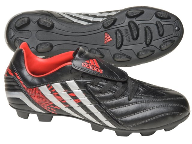Chuteira Masculina Adidas Predito ps G25606 Preto/vermelho