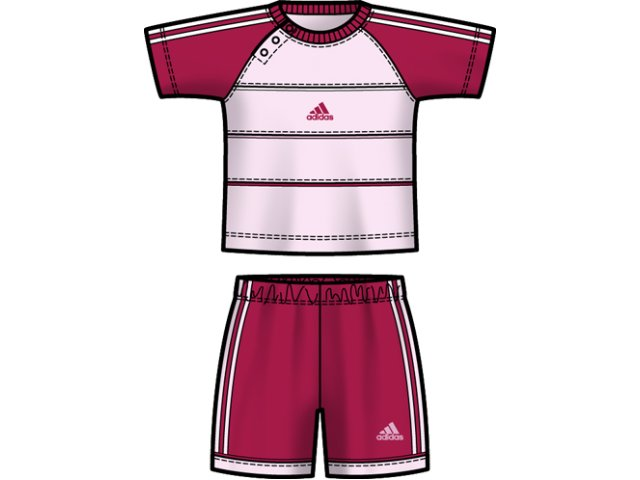 Conjunto Fem Infantil Adidas E13920 Pink/rosa