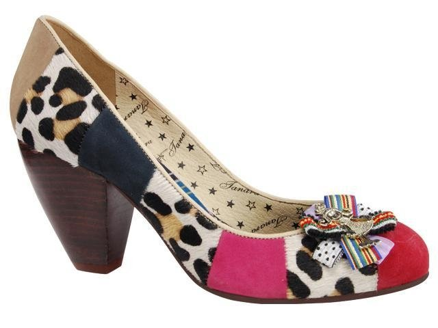 Sapato Feminino Tanara 9322 Vermelho/leopardo/pink