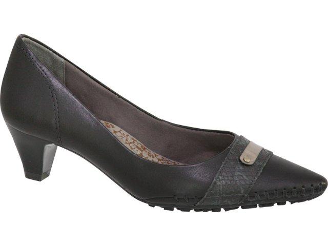 Sapato Feminino Ramarim 97221 Preto/prata Velha