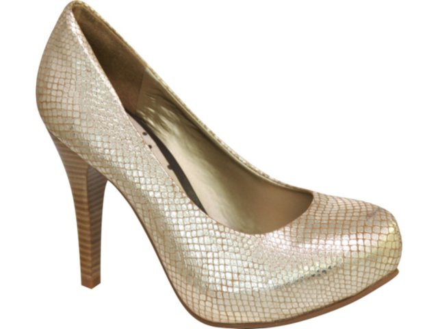 Sapato Feminino Tanara 0611 Ouro