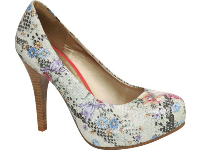 Sapato Feminino Tanara 0611 Florido