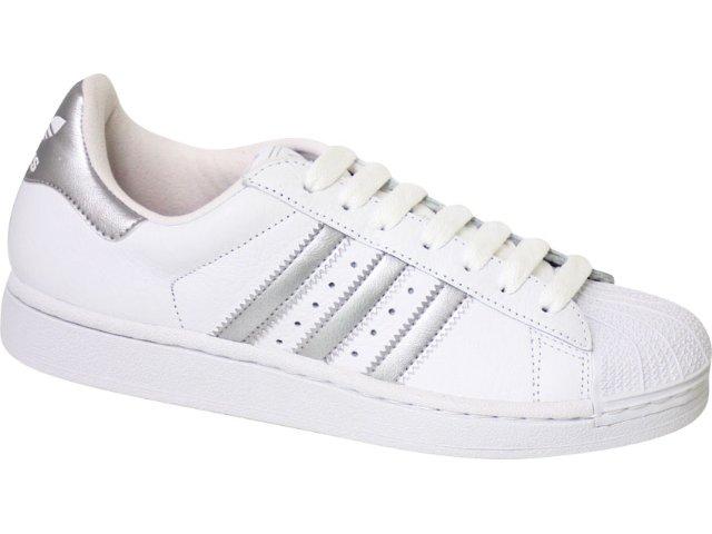 Tênis Feminino Adidas Star ii G29800 Branco/prata