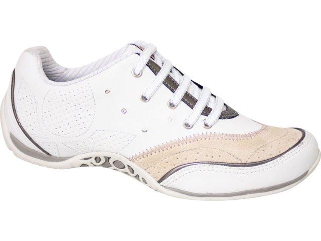 Tênis Feminino Cravo e Canela Cravo & Canela 52220/6258 Branco/prata