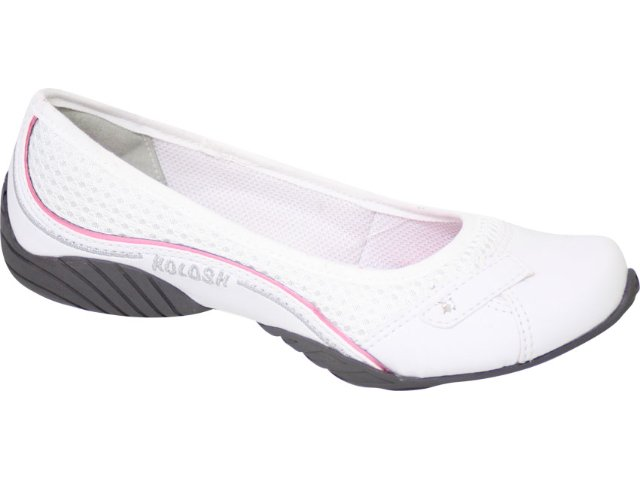Sapatilha Feminina Kolosh 9303 Branco/rosa