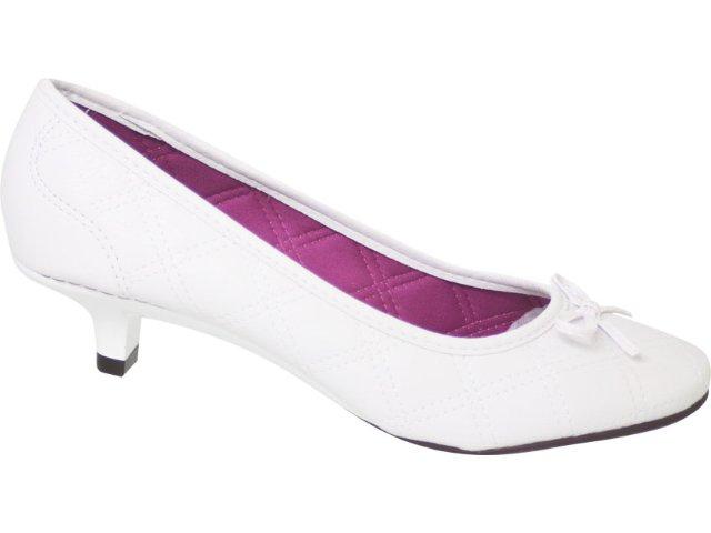 Sapato Feminino Moleca 5572105 Branco