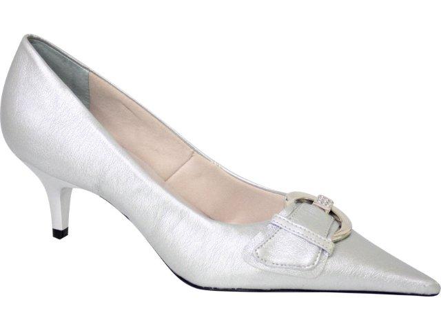 Sapato Feminino Bebêcê418256 Prata
