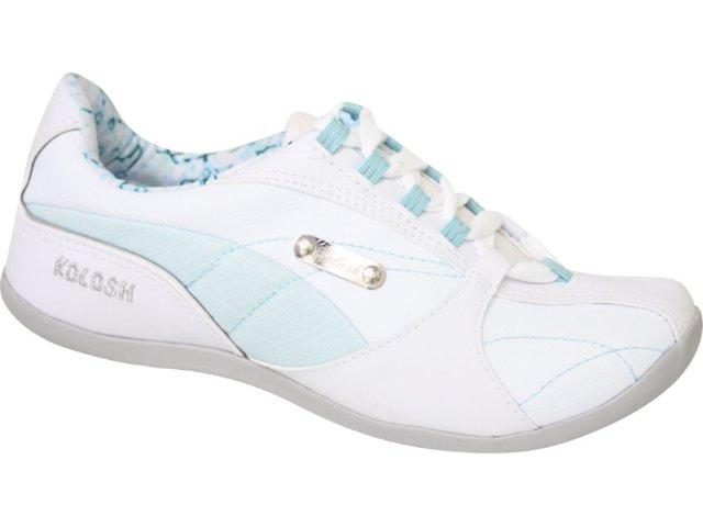 Tênis Feminino Kolosh 9173 Branco/celeste
