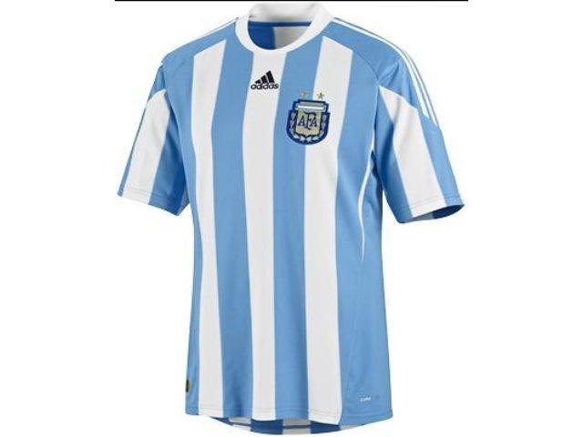 Camiseta Masculina Adidas P79919 Argentina Branco/azul