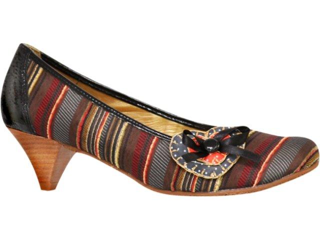 Sapato Feminino Cravo e Canela Cravo & Canela 57901/5660 Listrado Preto