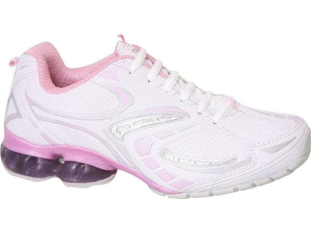 Tênis Feminino Rekoba 67300 Branco/rosa