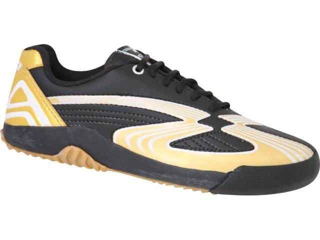 Tênis Masculino Petich 8530 Preto/ouro