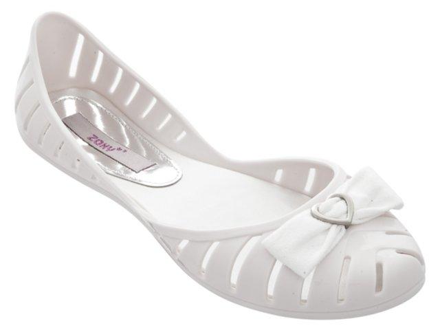 Sapatilha Feminina Grendene Zaxy 16019 Branco