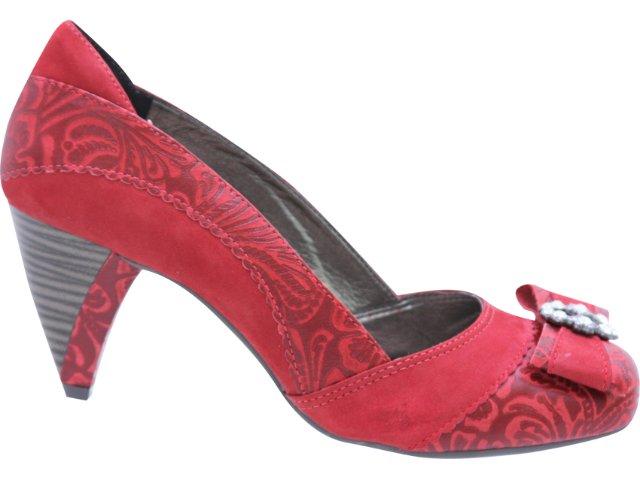 Sapato Feminino Tanara 0922 Vermelho