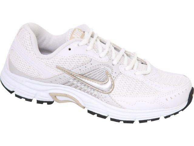 Tênis Feminino Nike Dart Vii 373475-100 Branco/ouro