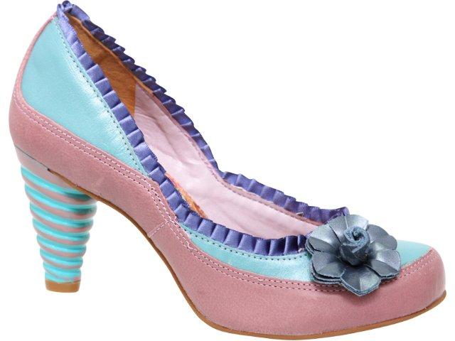 Sapato Feminino Tanara 0991 Turquesa Rose