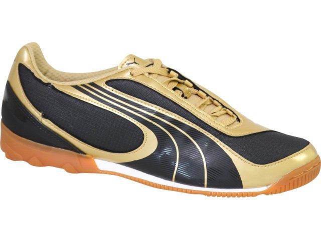 Tênis Masculino Puma 101754 Preto/ouro