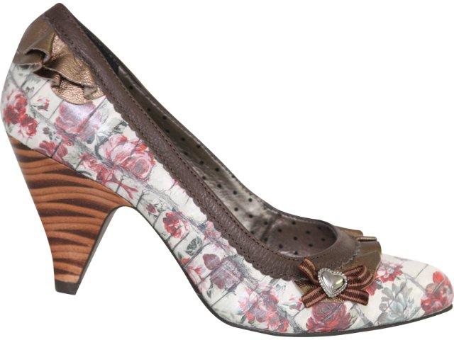 Sapato Feminino Tanara 1042 Florido