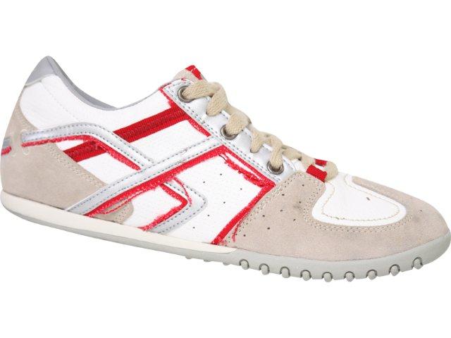 Tênis Masculino Hetane 8801 Bege/branco/vermelho
