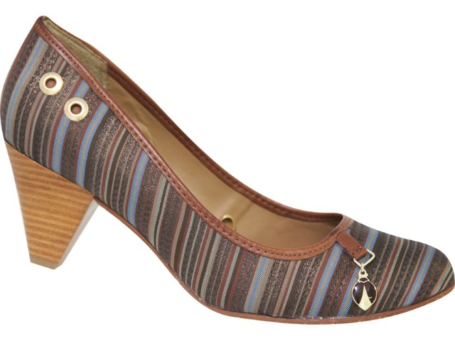 Sapato Feminino Cravo e Canela Cravo & Canela 58020/8231 Listrado