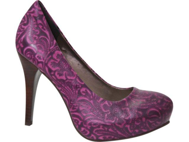 Sapato Feminino Tanara 0942 Roxo