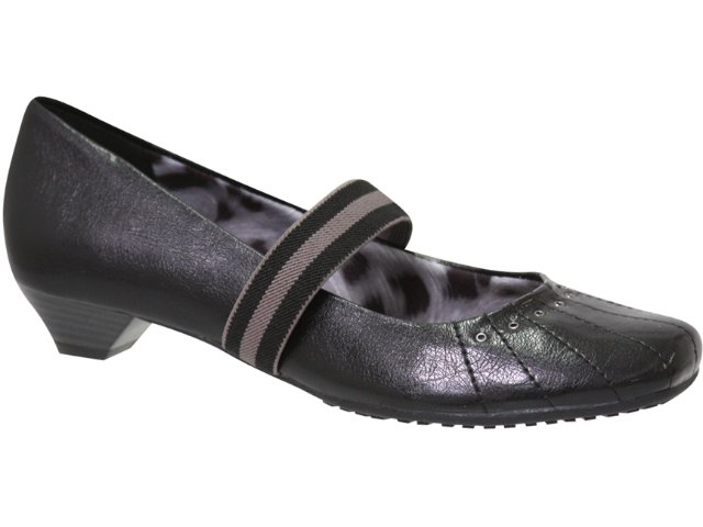 Sapato Feminino Via Marte 10-6510 Preto