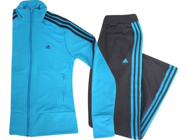 Abrigo Feminino Adidas P42973 Cinza/azul