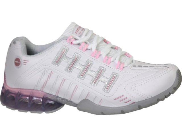 Tênis Feminino Nesk 341 Branco/rosa