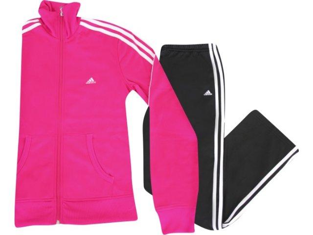 Abrigo Feminino Adidas P90389 Pink/preto
