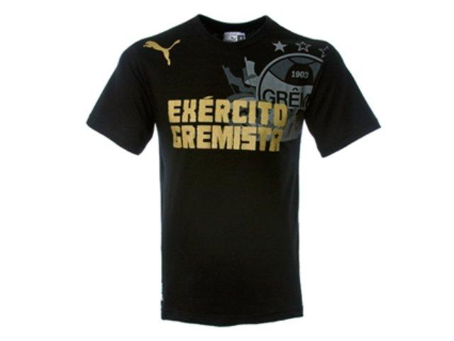 Camiseta Masculina Grêmio C2077m Exercito Gremista Preto