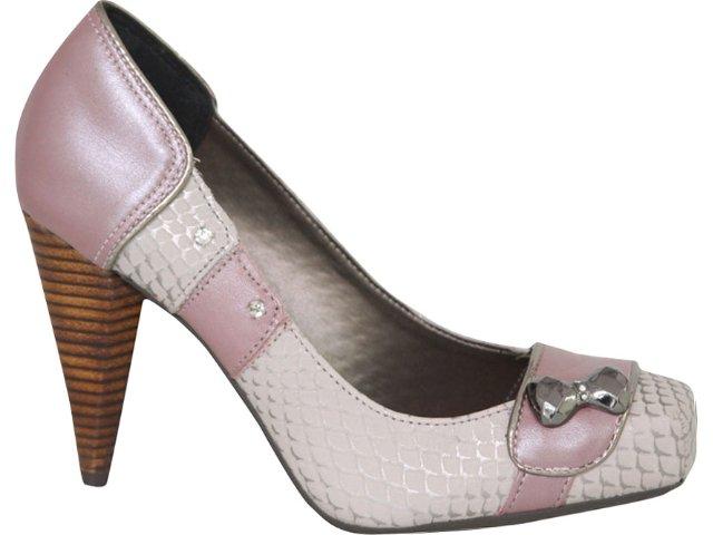 Sapato Feminino Tanara 0982 Gelo/rose