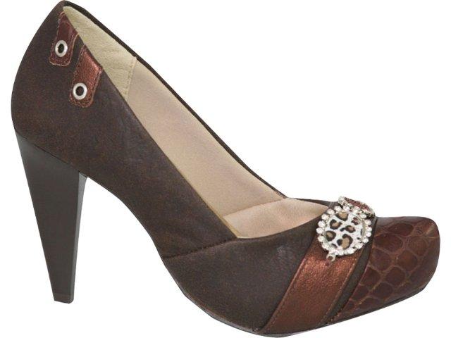Sapato Feminino Ramarim 1023105 Marrom
