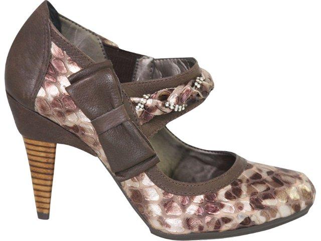 Sapato Feminino Tanara 1234 Chocolate