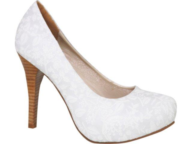 Sapato Feminino Tanara 1672 Branco