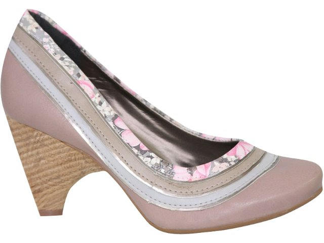 Sapato Feminino Tanara 1213 Rosa Antigo
