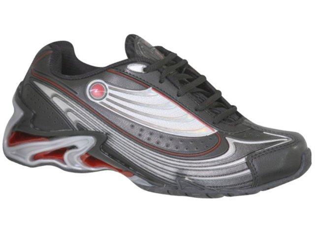 Tênis Masculino Nesk 804 Preto/vermelho
