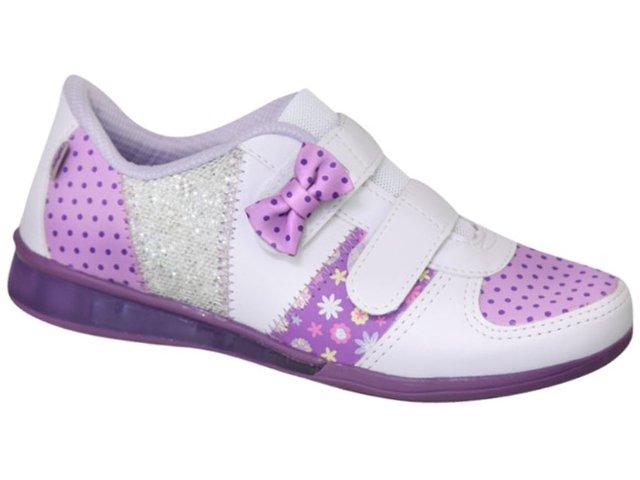Tênis Fem Infantil Kidy 02202000 Branco/lilas